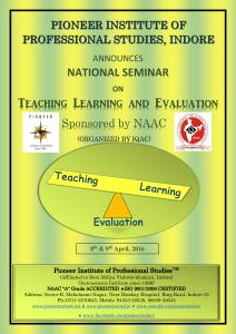 National Seminar sponsored By NAAC